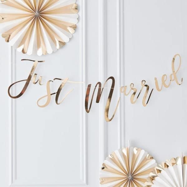 Festone-Scritta-Just-Married-Oro-Matrimonio