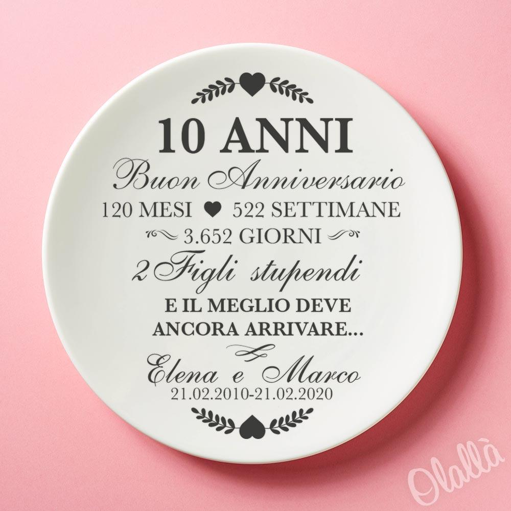 piatto in ceramica personalizzato con la vostra storia d amore idea regalo anniversario olalla piatto in ceramica personalizzato con la vostra storia d amore idea regalo anniversario
