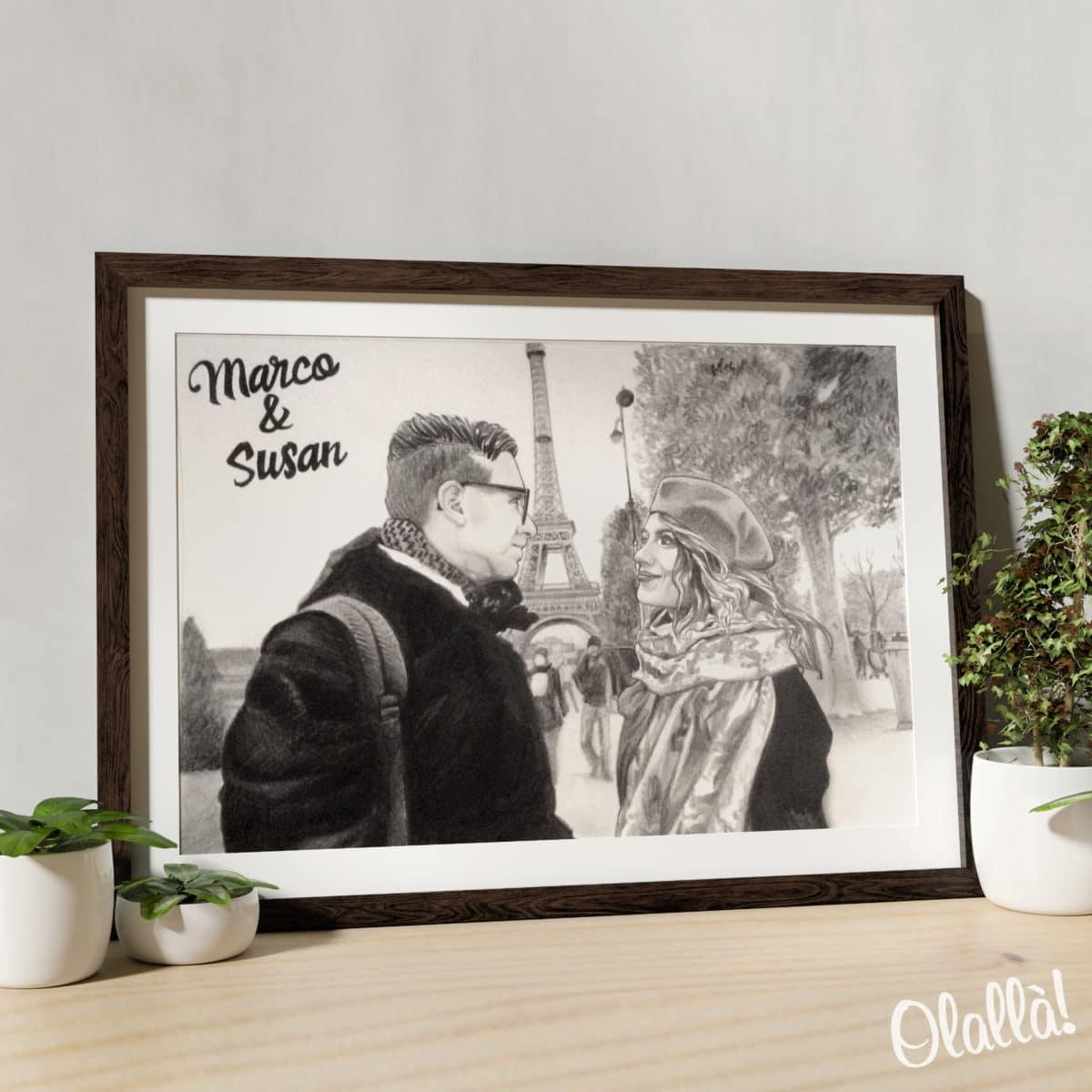 illustrazione-matita-personalizzata-coppia-regalo-04