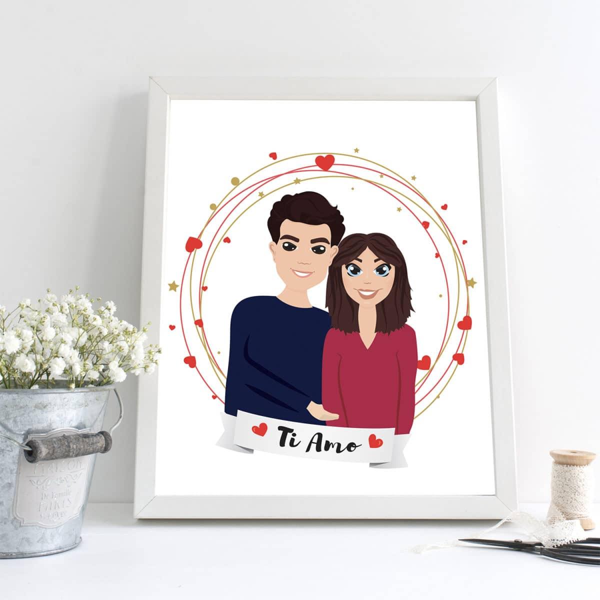 ritratto_personalizzato_coppia_cartoon