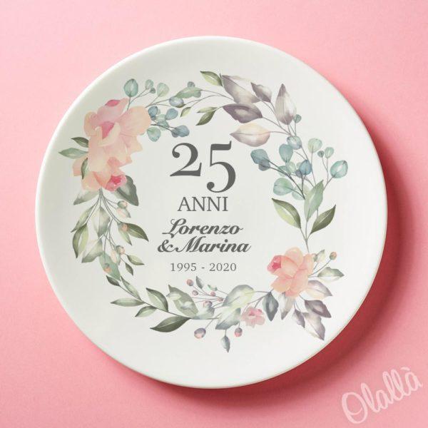 Piatto-25-anni-anniversario-fiori