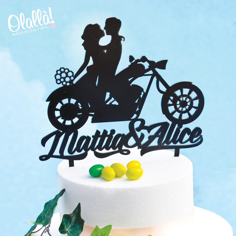 cake-topper-moto-matrimonio-personalizzato