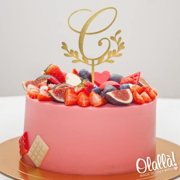 cake-topper-personalizzato- iniziale-corsivo