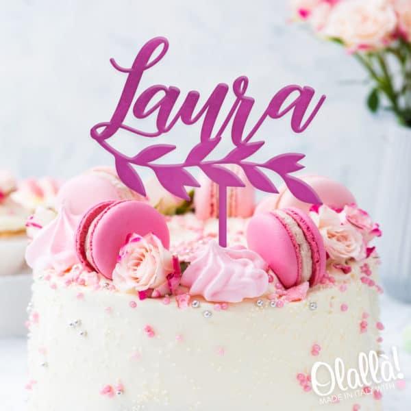 cake-topper-personalizzato-nome-foglie