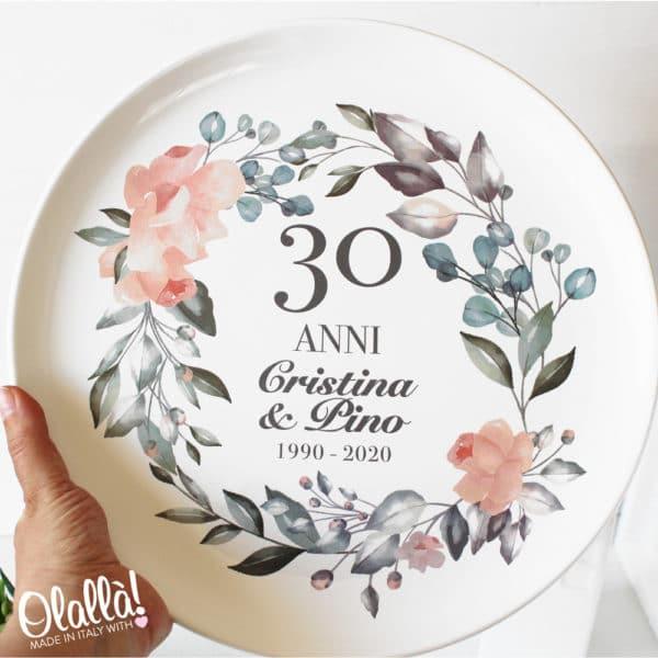 piatto-anniversario-personalizzato-decoro-fiori