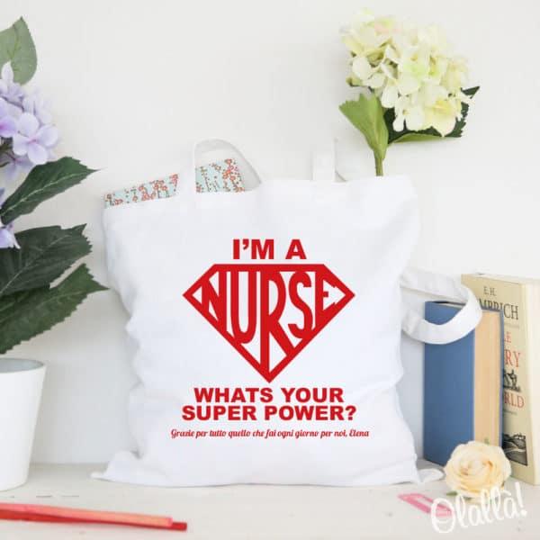 shopper-infermiera-nurse-superpoteri-personalizzata