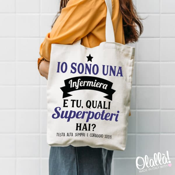 shopper-personalizzata-infermiera-superpoteri
