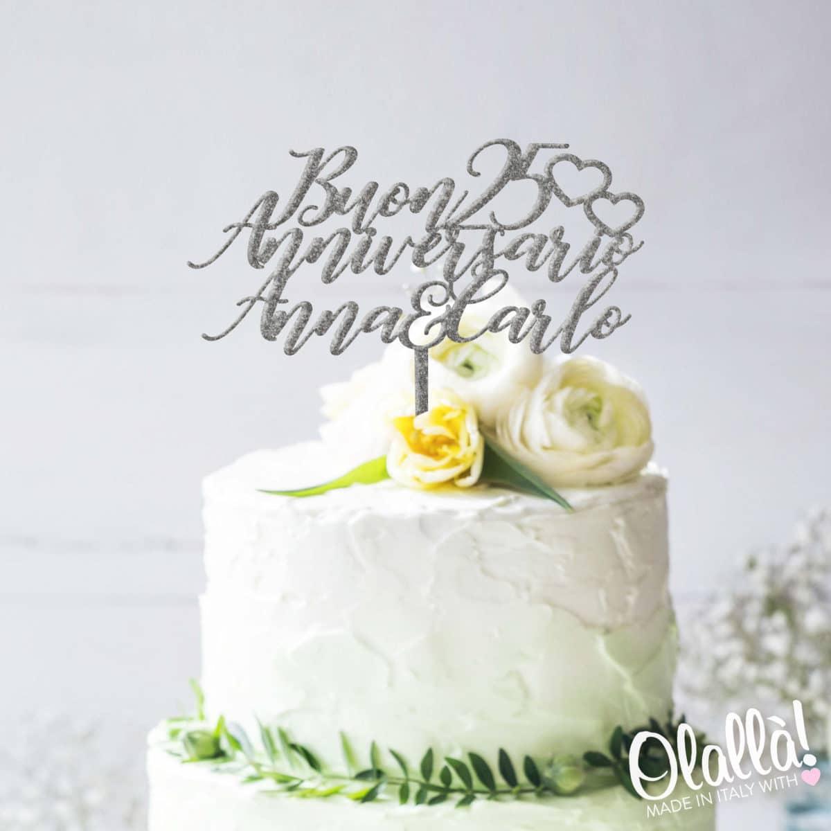 cake-topper-anniversario-25-personalizzato