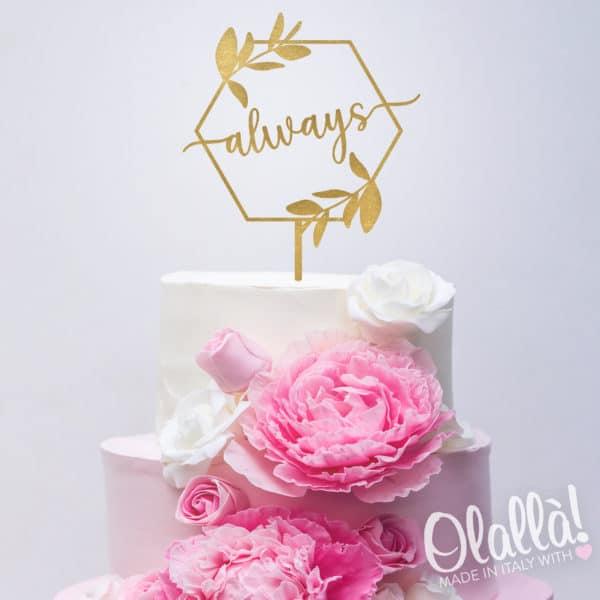 cake-topper-matrimonio-parola-personalizzato-oro