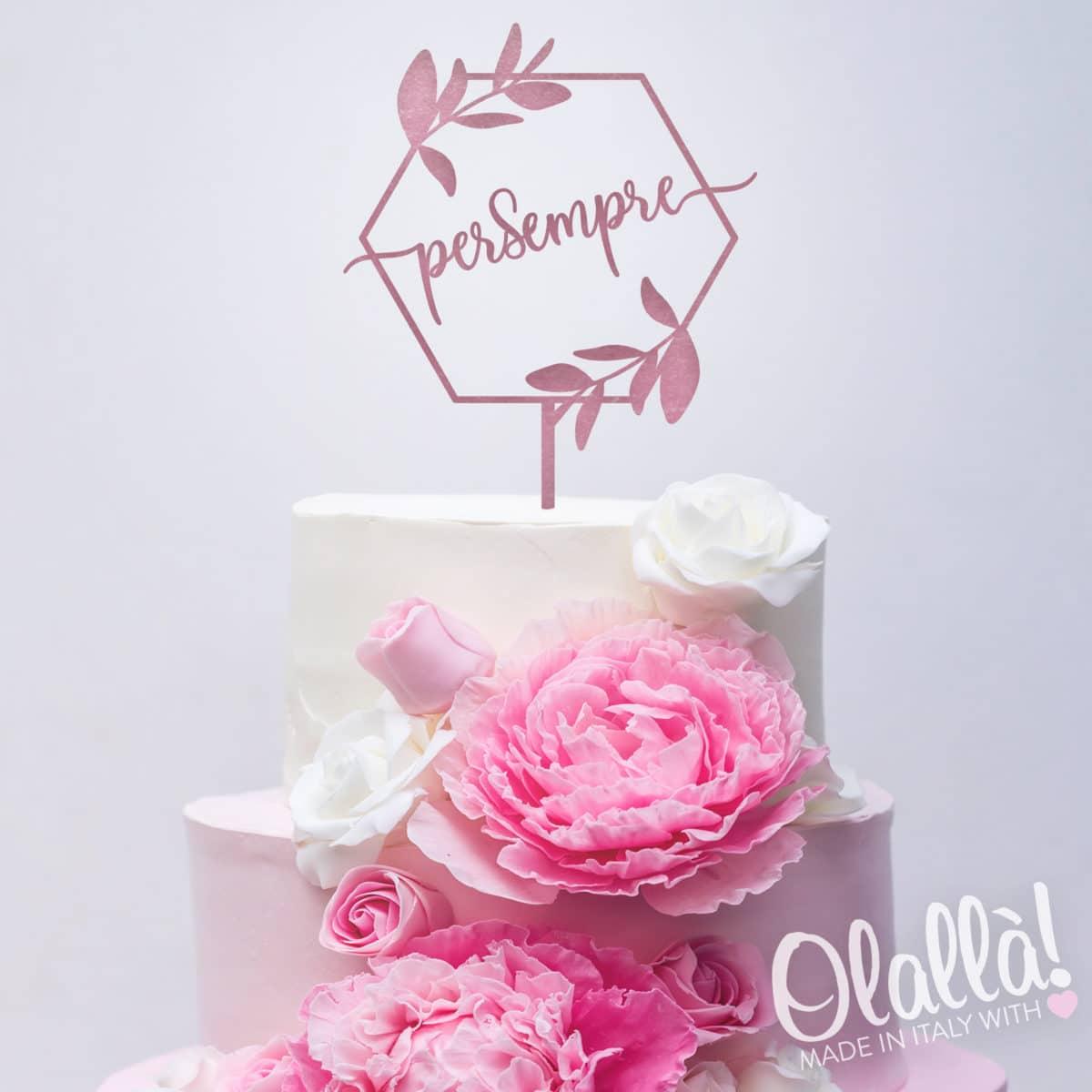 cake-topper-matrimonio-parola-personalizzato-rosa