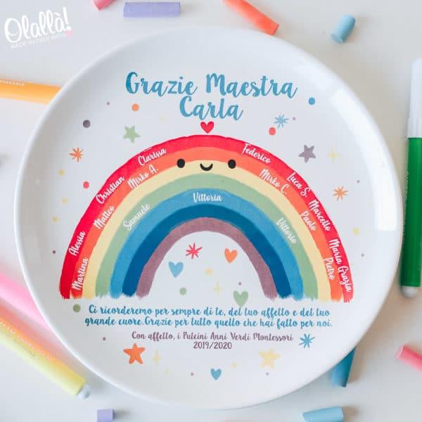 piatto-arcobaleno-personalizzato-maestra-nomi-bambini