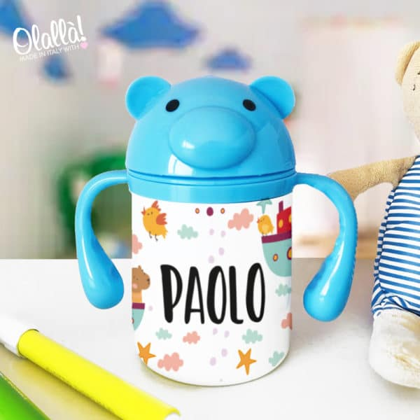 borraccia-azzurra-piccola-personalizzata-animale-bambino