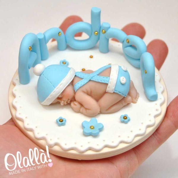 cake-topper-fimo-neonato-battesimo-1