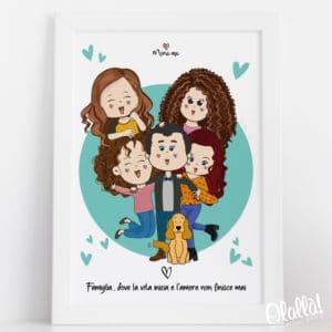 ritratto-digitale-famiglia-cartoon