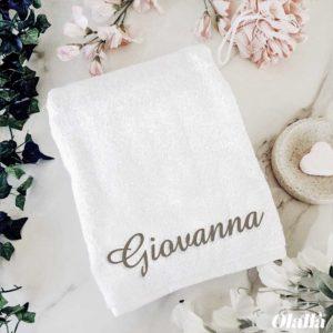 asciugamano-ricamato-spugna-personalizzato-nome-iniziali