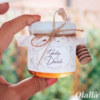 Vasetti di Miele con Etichetta