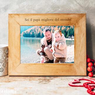 cornice-regalo-natale-papa-personalizzata