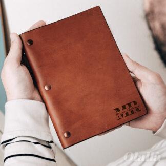 libro-cuoio-personalizzato-nome-iniziali-logo-regalo-lui