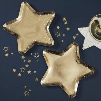 piatti-stella-dorata-decorazione-natale-feste-capodanno