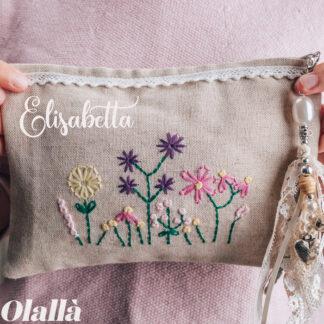 pochette-floreale-personalizzata-nome-decoro-fiori-campo-nome