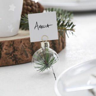 segnaposto-natalizio-pallina-vetro-rami-pino